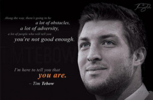 Tim Tebow - New York Jets Adversity Quote Poster