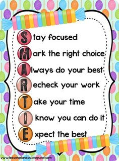 smartie test taking poem more confidence boost acrostic poems test ...