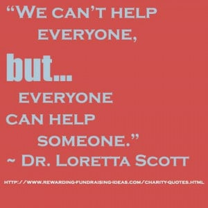 Back to the Needy – Helping People in Need – Quote - We can't help ...
