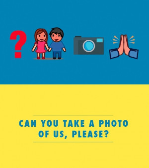 Can you take a photo of us please?'. Emoji flashcards to help brits ...