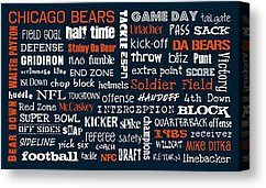 Chicago Bears Canvas Prints - Chicago Bears Canvas Print by Jaime ...