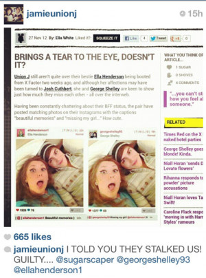 George Shelley deletes his Instagram as Ella Henderson & Union J's JJ ...