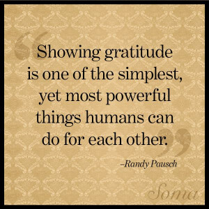 Show gratitude is one of the simplest, yet most powerful things ...