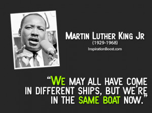 Martin Luther King Jr We Are One