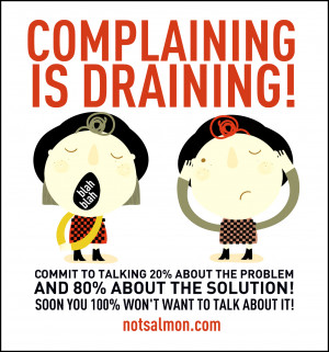 This weekend, commit to talking 20% about the problem and 80% about ...