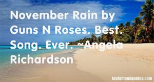 November Rain Quotes