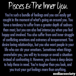 Pisces and the inner you.