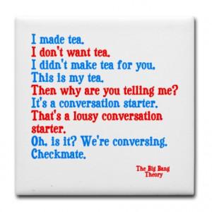 Big Bang Theory quotes Tile Coaster