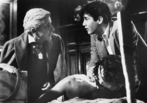 Still of Roddy McDowall and William Ragsdale in Fright Night (1985)