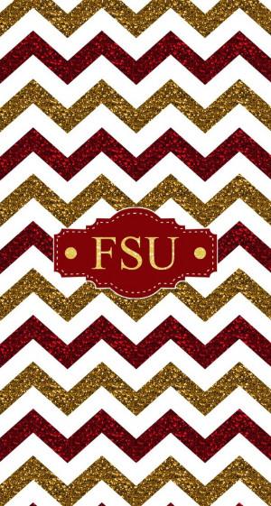 Florida State FSU glitter chevron monogram wallpaper. Made with ...