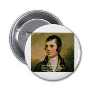 Robert Burns Famous Quote Pinback Buttons
