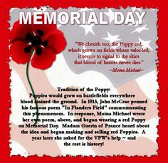The Memorial Day Poppy Story More