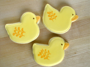 Baby Shower Sugar Cookies – Duck