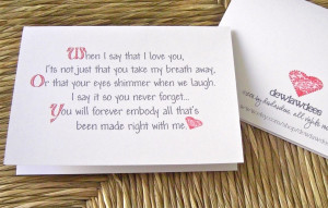 365 Reasons Why I Love You Quotes When i tell you that i love