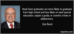 Head Start graduates are more likely to graduate from high school and ...