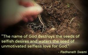 Selfless love for God