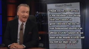 an affront to god queers do not share in the wealth of god and you ...