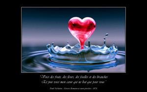 ... Life And Death: Poetry Quotes About Love And Hanging Heart In Water