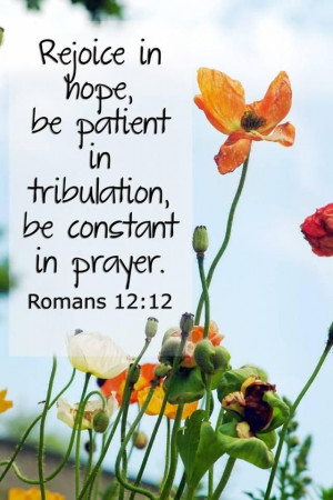 Hope & Pray in times of trouble.