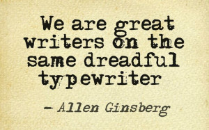 ... quote courtesy of @Pinstamatic Allen Ginsberg, Howl and Other Poems