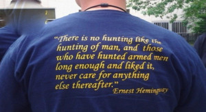 Ernest Hemingway Hunting Man Quote