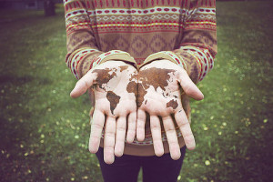 earth, hand, hands, hipster, photo, photography, pullover, tattoo