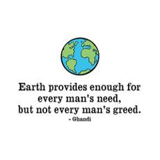 Ghandi Earth Quote Poster