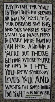 My wish for all the high school graduates and college graduates! :)