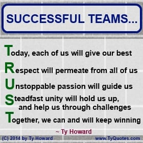 Ty Howard's Quote on Teamwork, Quotes on Team Building