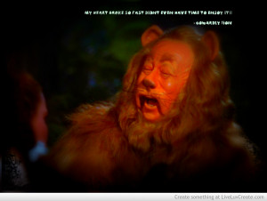 Cowardly Lion Gets Heart Brkn