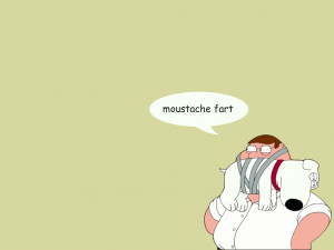 Peter Griffin moustache fart