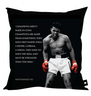 Muhammad Ali' Quotes Cushion - 4 Styles