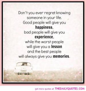 Don't Ever Regret