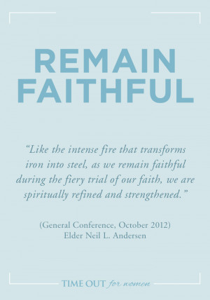 15. REMAIN FAITHFUL