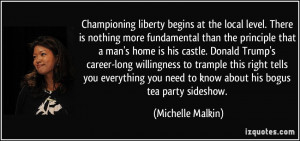 ... you need to know about his bogus tea party sideshow. - Michelle Malkin