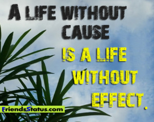 Quotes About Life Without Cause Effect