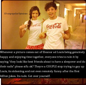 Louis Tomlinson Quotes About Eleanor Louis tomlinson one direction