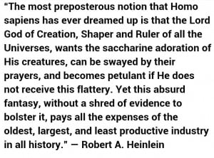Robert Heinlein quote on religion