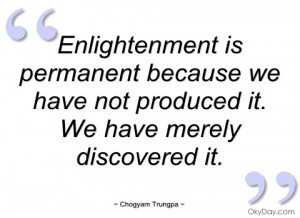 imagem enlightenment is permanent because we have
