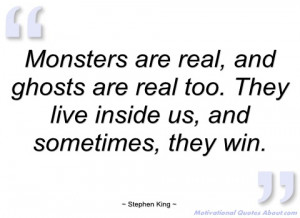 monsters are real stephen king