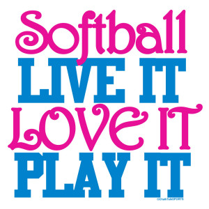 funny softball quotes cute softball sayings for