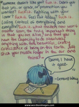 My Chemical Romance Gerard Way Quotes