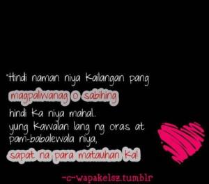 Tagalog banat love quotes