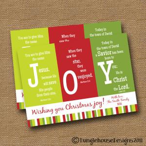 Christmas Bible Verses For Cards Joy