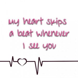 heart #skips #beat #beats #crush #love #shy
