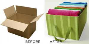 cardboard box storage ideas