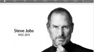... of the Apple website confirms that Steve Jobs has died, Oct. 5, 2011