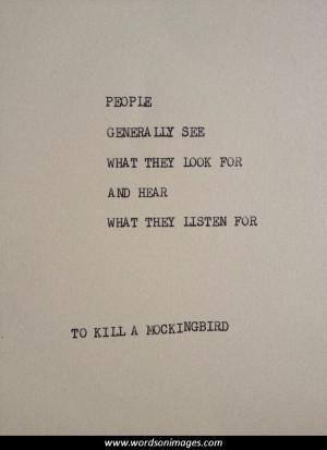 Quotes to kill a mockingbird