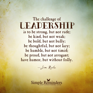 the challenge of leadership by jim rohn the challenge of leadership by ...
