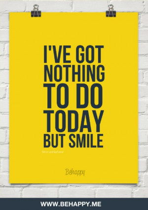 ve got nothing to do today but smile by Simon and Garfunkel #430